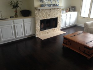 After new hard surface wood flooring was installed