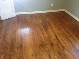 Solid Red Oak wood floor in San Marco, Jacksonville, Florida, after refinishing