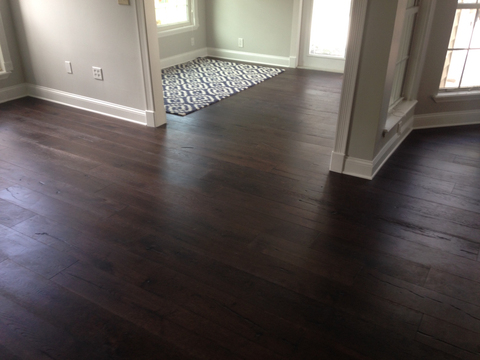 New Engineered European Oak Wood Flooring Installed