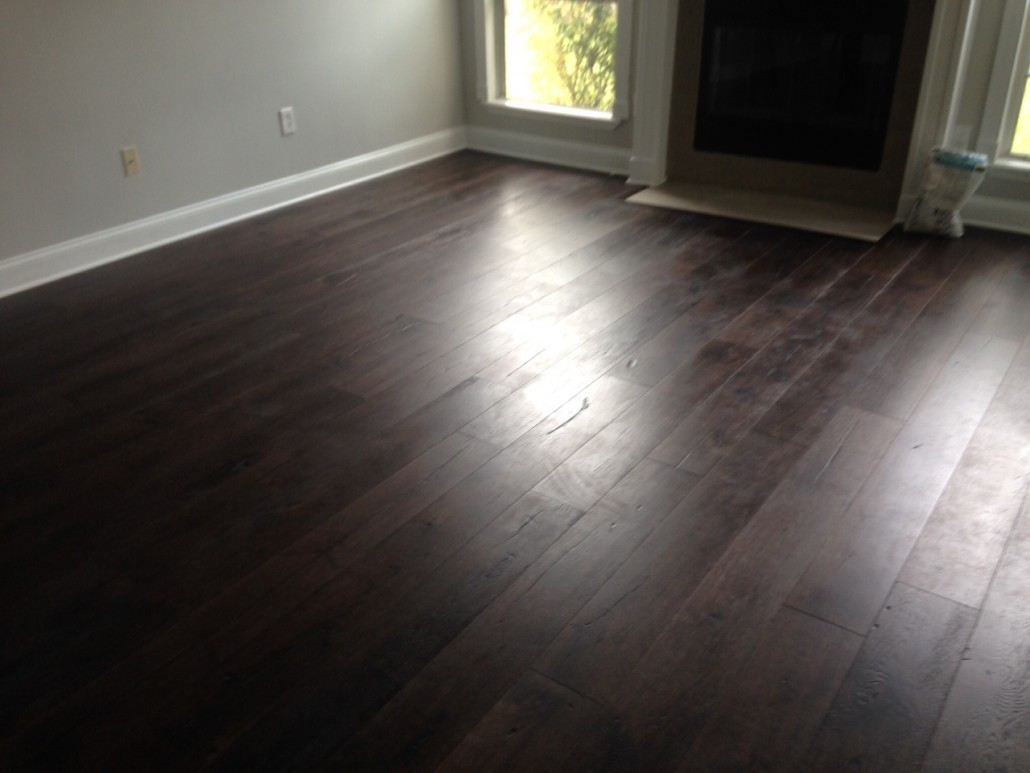 New, engineered European Oak Wood Flooring installed.