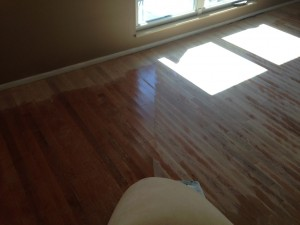 Cross sanding severely cupped wood floor