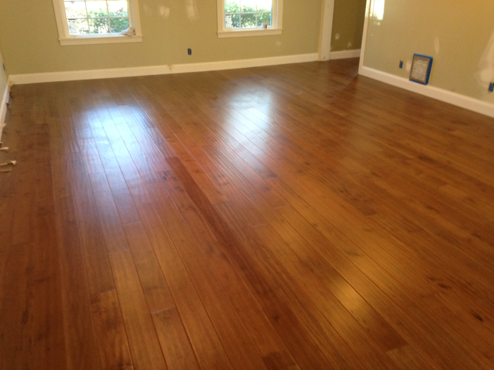 Engineered wood flooring home improvement in mandarin for Floating hardwood floor