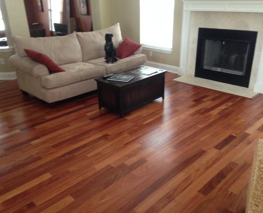 New Santos Mahogany Engineered Wood Flooring.
