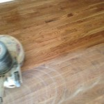 Polyurethane Finishing sanded Severely Cupped Wood Floor.