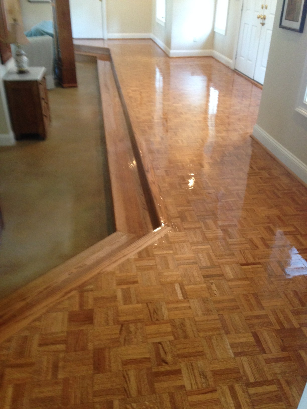 Screening And Re Coating Plank Parquet Flooring