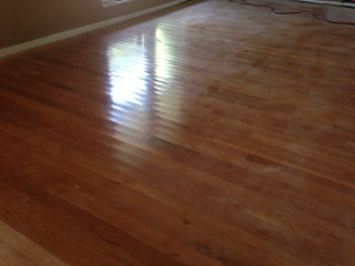 Severely cupped wood floor, before refinishing