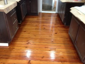 Heart Pine Solid wood flooring, beautifully refinished