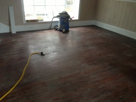 Heart Pine Solid wood flooring Refinish project