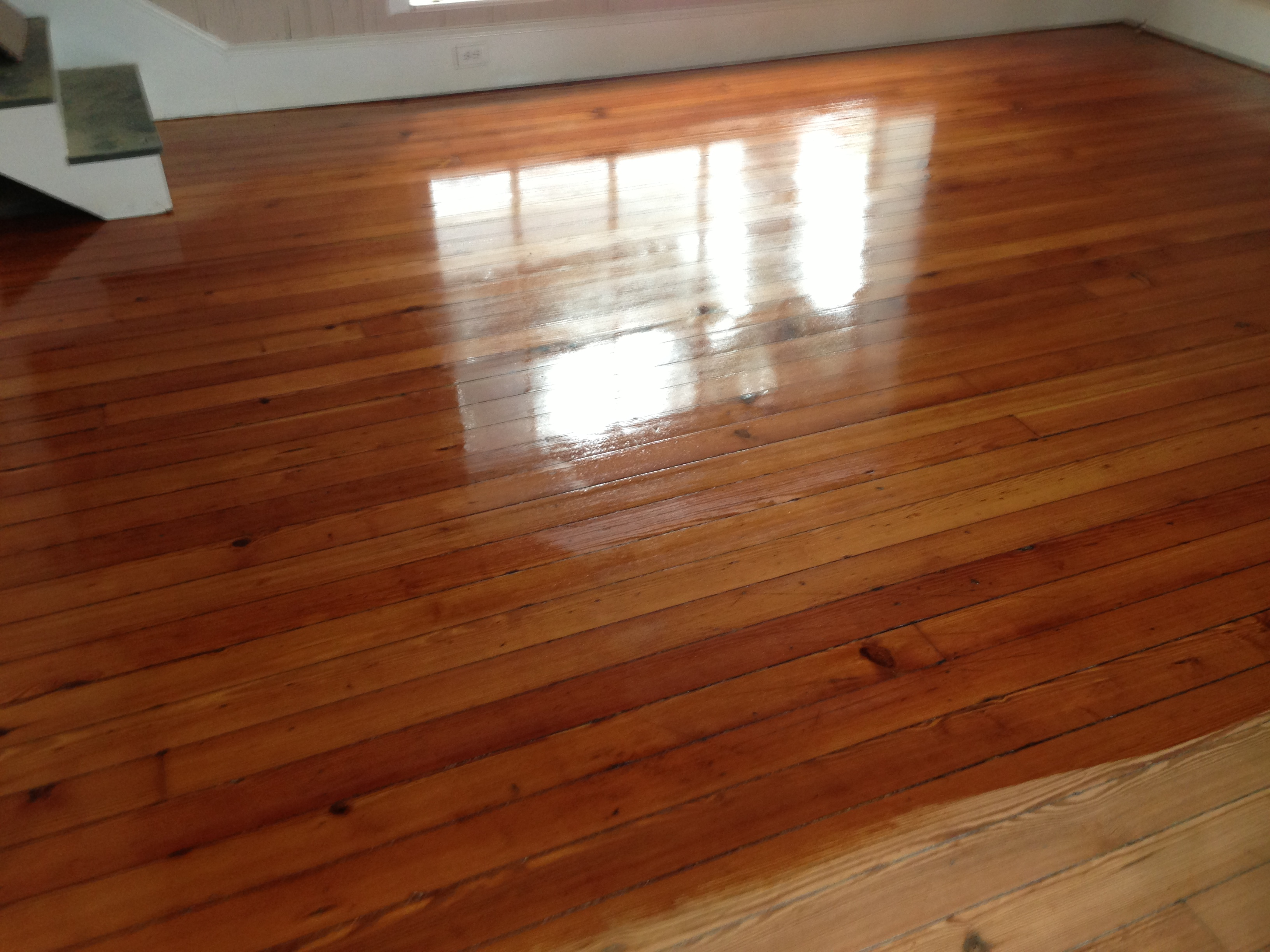 Wood floor refinishing ponte vedra jacksonville st for Pine wood flooring