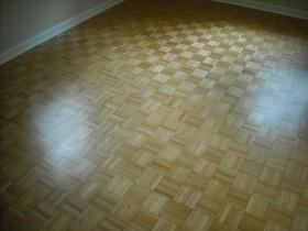 Parquet wood flooring.