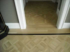 Parquet with Black Painted Border - Refinish
