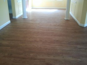 Rotary Sawn, Red Oak Flooring - refinishing