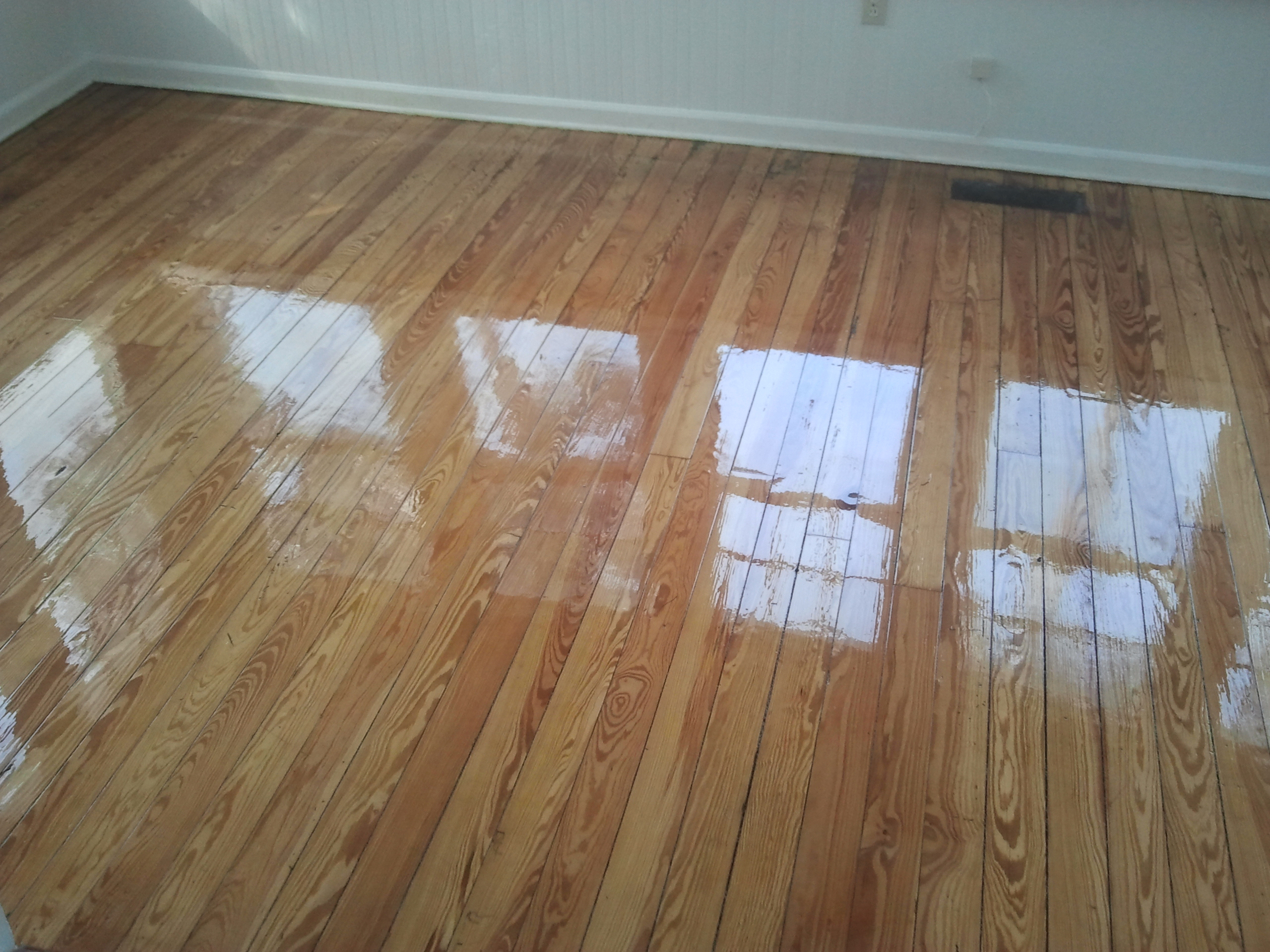 Solid 100 Year Old Heart Pine Flooring Refinishing