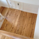 White Oak natural Prefinished Engineered flooring by Du Chateau, with solid Oak treads.
