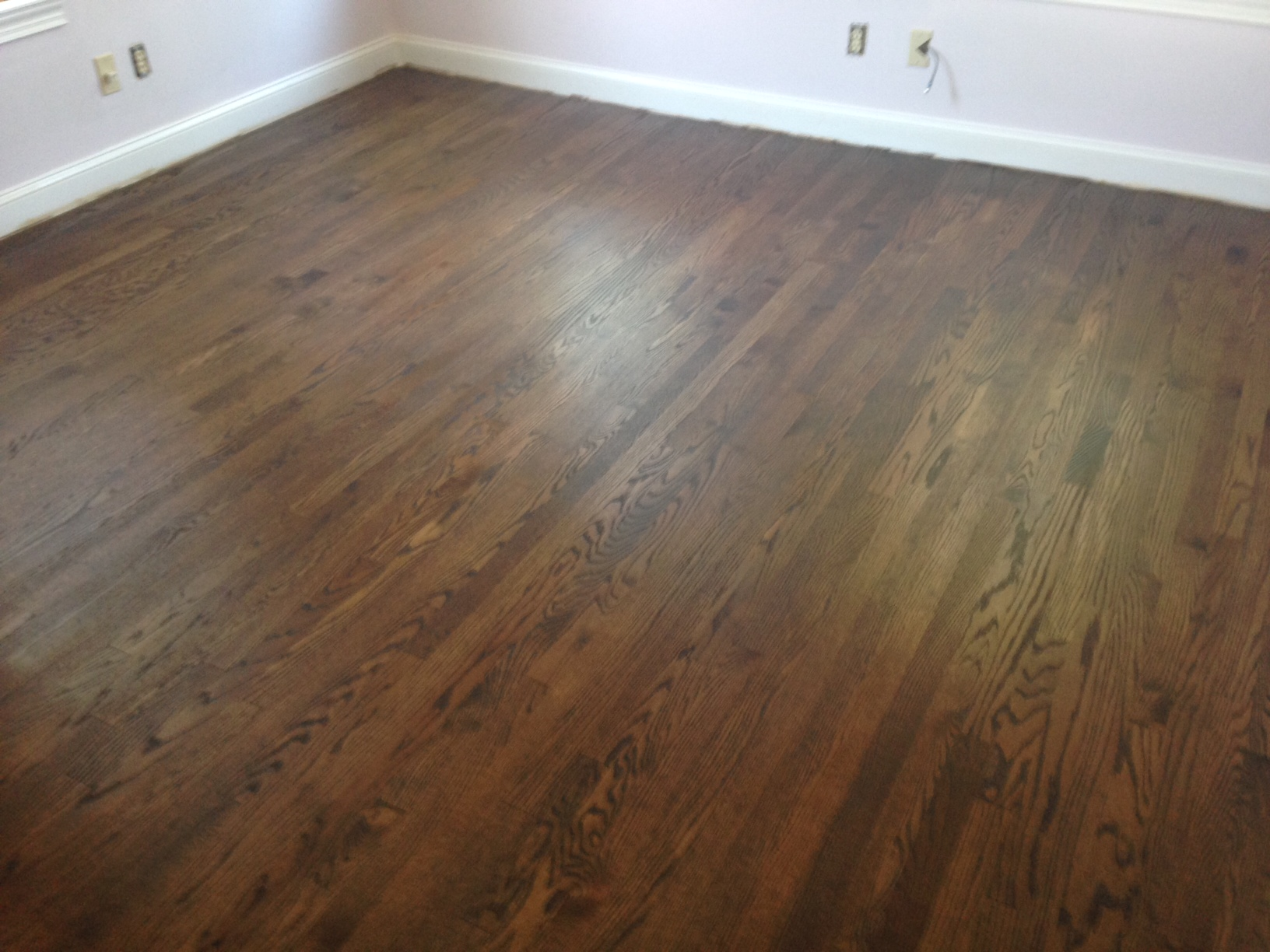 New hardwood floors wood floor refinishing epping forest for Staining hardwood floors