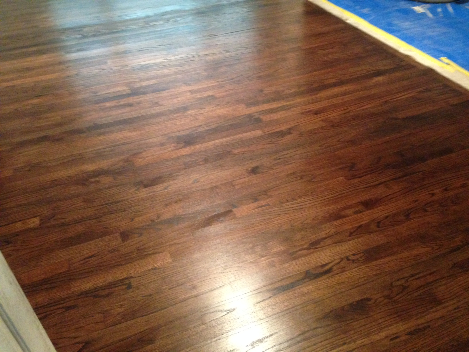Red oak wood flooring refinishing in englewood for Unfinished oak flooring