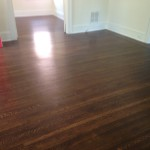 Refinished beautiful Riverside hardwood floors