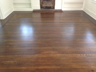 Refinished, beautiful solid hardwood floors in Riverside