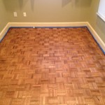 Refinished parquet flooring