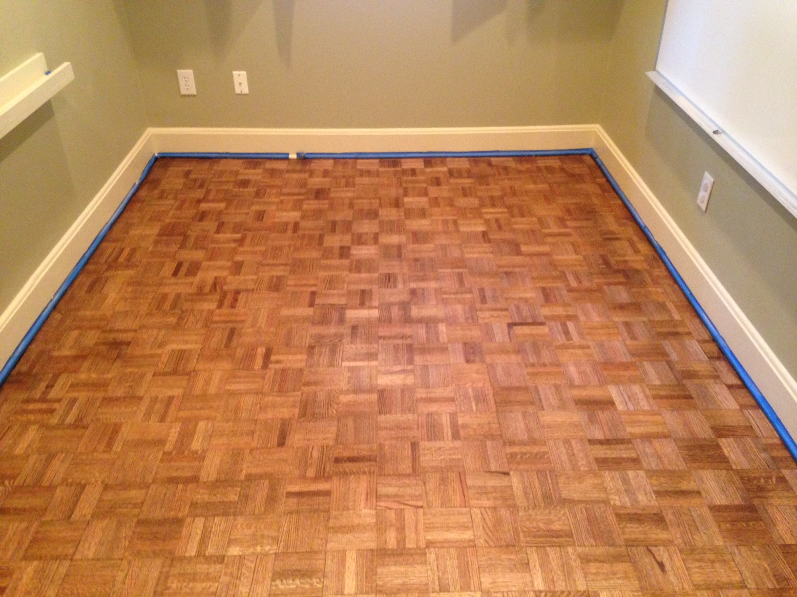 Wood floor refinishing project near san marco for Hardwood flooring nearby