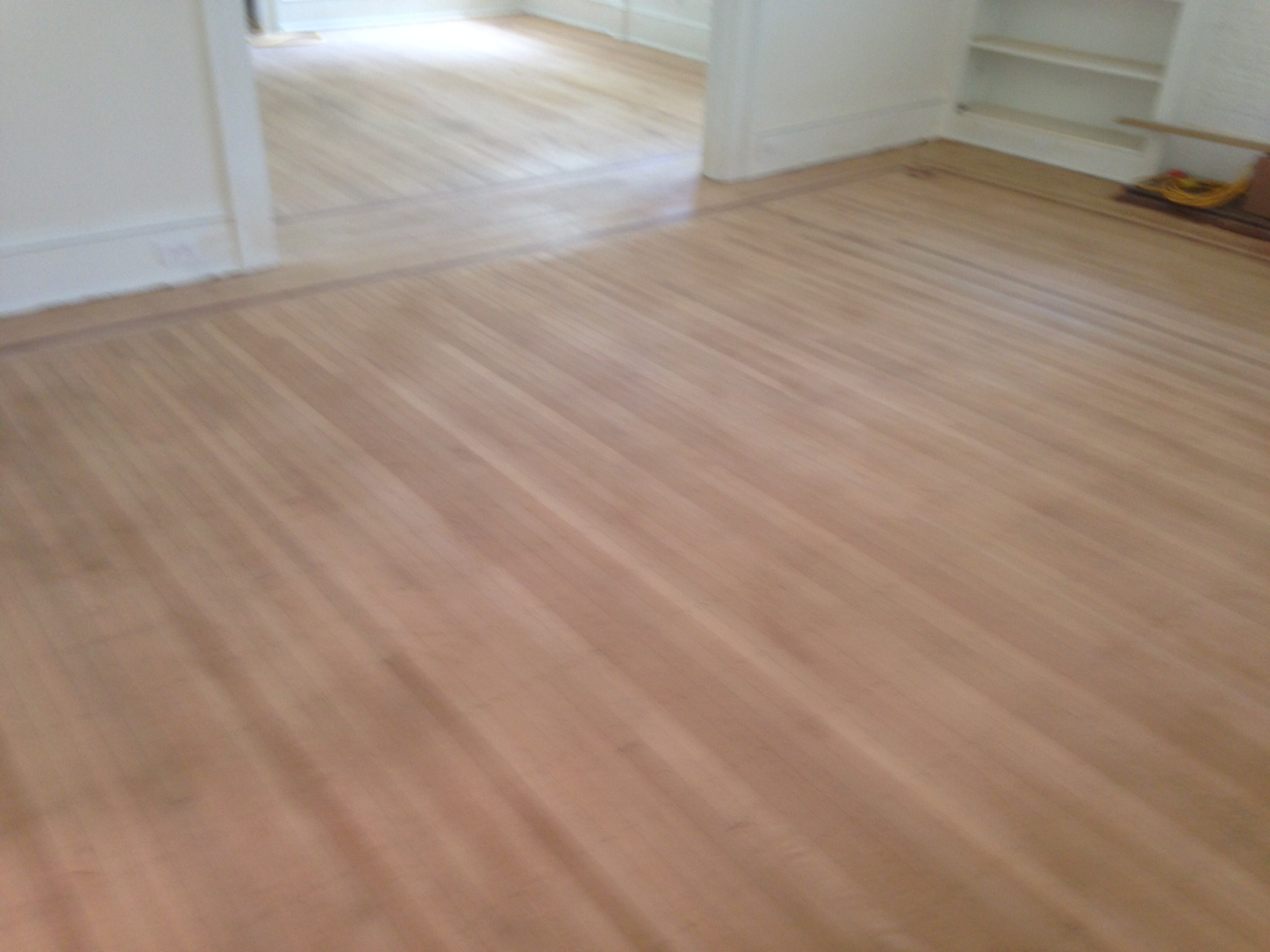 Refinishing fine old wood floors in historic riverside for Staining hardwood floors