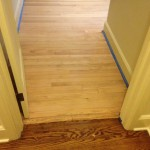Sanded wood flooring, ready for stain and finish