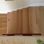 Stairs retreaded with untreated solid oak flooring