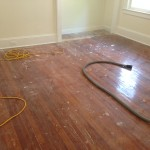 Worn, impressive wood floors in Riverside