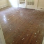 Worn, impressive Riverside hardwood floors