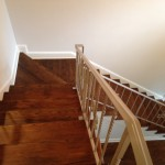 Stairs after coating