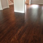 Solid Wood floor after coating