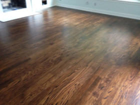 Beautiful Wood Floor after screening and re-coating