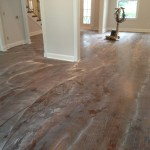 Solid wood floor after screening