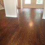 Solid wood floor prior to screening