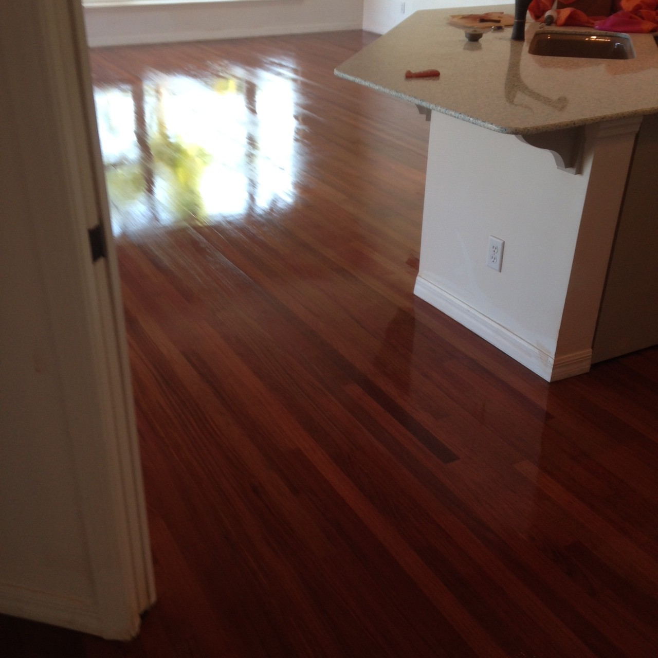 recoated brazilian cherry wood flooring