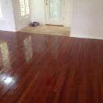 Refinished Brazilian Cherry Wood Floor in St. Augustine, Florida - different view.