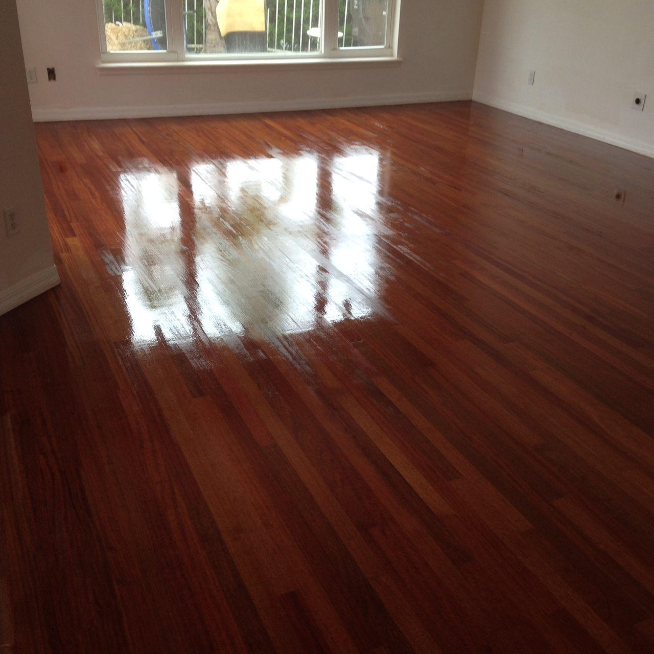 Refinished Brazilian Cherry Wood Floor in St. Augustine, Florida - Brazilian Cherry Wood Archives - Dan's Floor Store