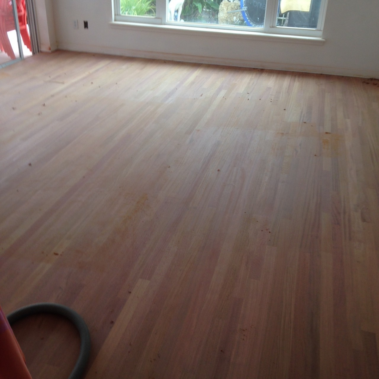 sanded brazilian cherry wood floor in home in st augustine florida