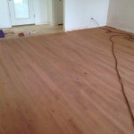 Sanded Brazilian Cherry Wood Floor in home in St. Augustine, Florida - different view.