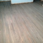 Classic Gray DuraSeal stained wood floor, ready for coating