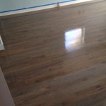Classic Gray stained solid Red Oak wood flooring coated with polyurethane satin finish