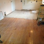 Preparing to refinish wood floors in Jacksonville Beach