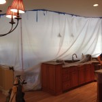 Preparing a room for wood floor refinishing