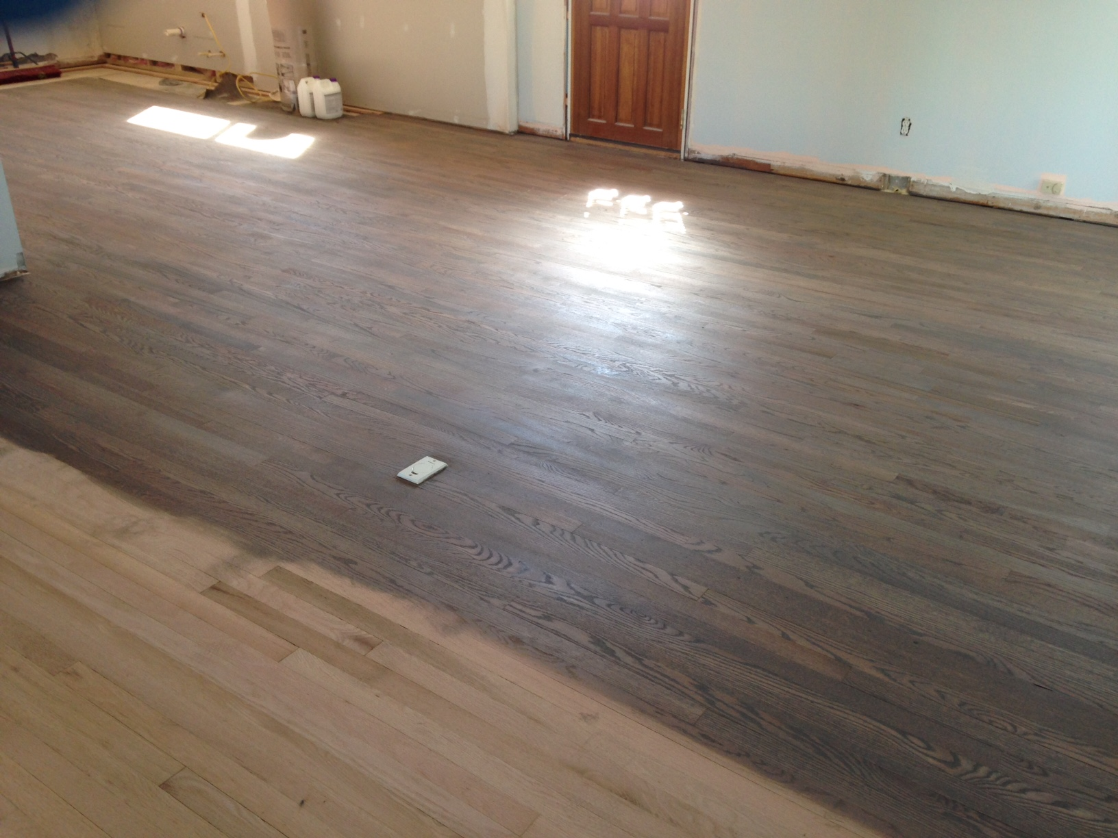 Wood flooring refinish and repair in jacksonville beach fl for Staining hardwood floors