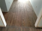 DuraSeal Classic Gray stained and coated solid Red Oak wood flooring