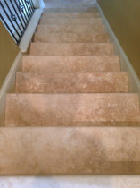 Looking down the travertine stairway - alternate view