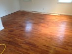 Solid Red Oak floor prior to refinishing
