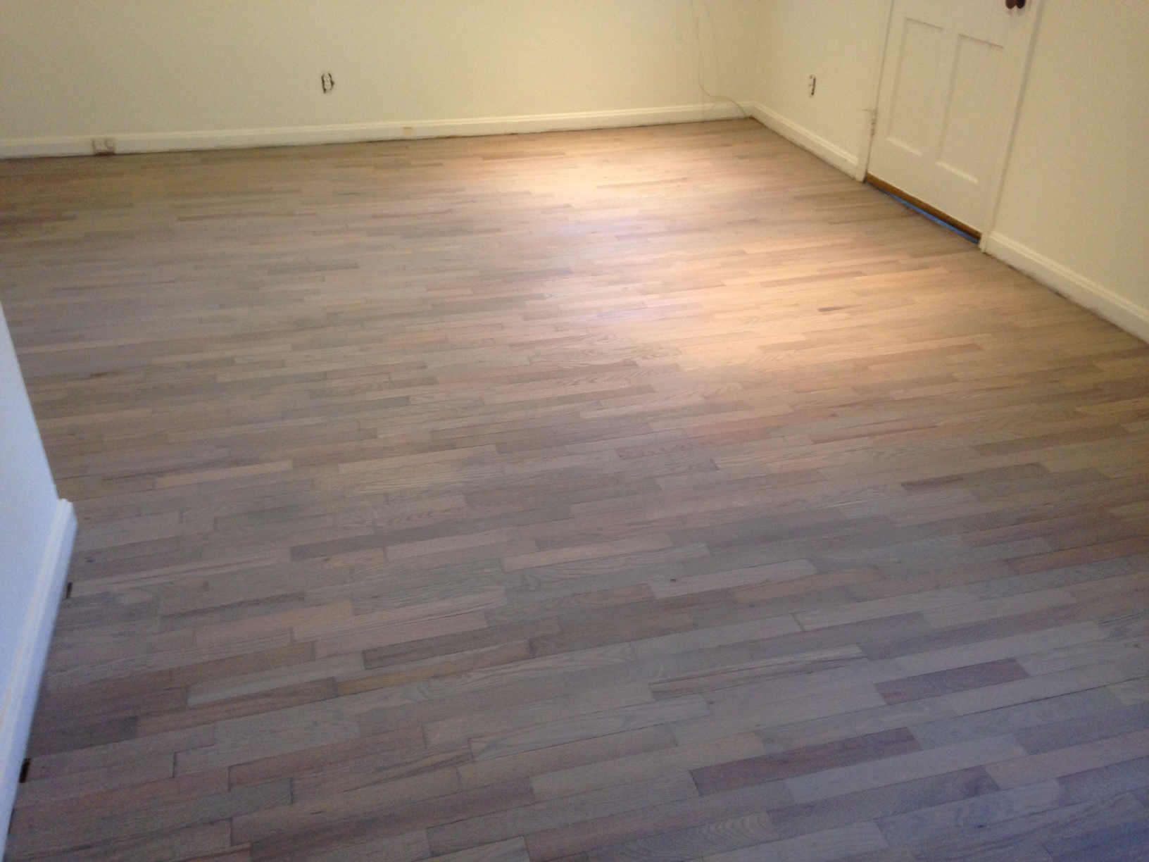 Refinishing wood floors for a beach house look dans floor store stained and refinished red oak floor for beach house look dailygadgetfo Image collections