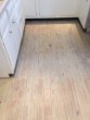 Stained and refinished Yellow Pine Kitchen floor for a beach house look