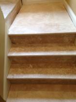 Travertine stairs and landing